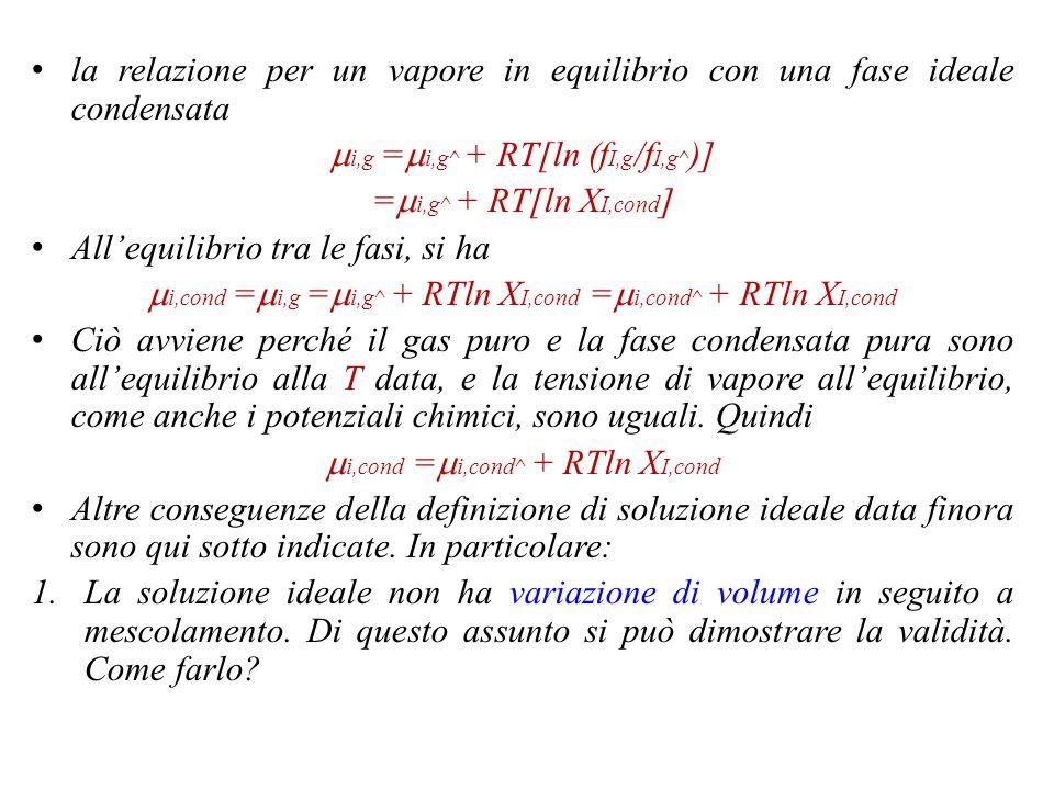 mi,g =mi,g^ + RT[ln (fI,g/fI,g^)] =mi,g^ + RT[ln XI,cond]